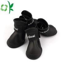 6 tamanhos suaves de silicone confortável Pet sapatos de chuva