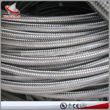 Fabricante de manguera de teflón trenzado de acero inoxidable de alta presión de manguera SAE 100 R14