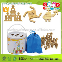 Estocada 100pcs Safety Rubber Wood Kids Toys Block