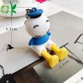 Canard Donald en silicone mignon avec porte-clés en acier inoxydable
