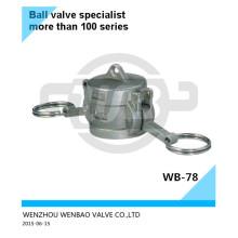 Tapa antipolvo de acero inoxidable Ss316 2 pulgadas