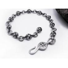 Bracelets cubains de bijoux en acier inoxydable de conception croisée classique anti-allergie