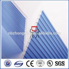hoja de cubierta de policarbonato hueco de doble pared para invernadero