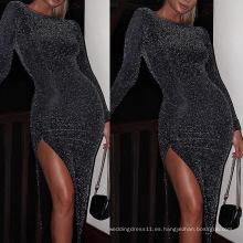 Vestido largo ajustado de noche / fiesta / boda para mujer