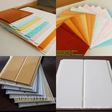 Vietnam price 60% PVC, 1.32kg/m2 hollow sheet PVC ceiling panel