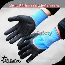 SRSAFETY 15G Knitted Nitrile Gloves/Industrial Oil Gloves