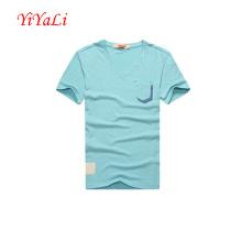 Männerhemd Baumwollhemd Business T-Shirt V-Ausschnitt Bluse