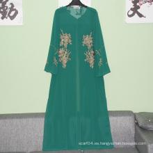 Diseños abaya de la alta calidad de la venta caliente en Paquistán Diseños islámicos de los diseños de Burqa Vestido largo musulmán al por mayor