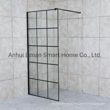 Black Aluminum Wali -in Shower Enclosure