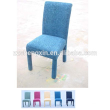 Chaise de salle à manger bleue avec coussin, dossier Chaise à dossier pour hôtel