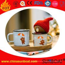 Bear Logo Enamel Breakfast Milk Mug/Coffee Mug