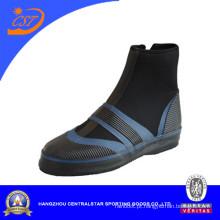 Botas de mergulho preto e azul do neopreno da forma (BS-06)