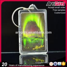 Customized rectangle clear blank acrylic keychain with photo