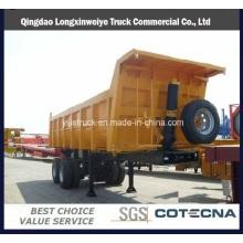 Camion de basculement latéral de camion d'axe 3 inclinant la semi-remorque