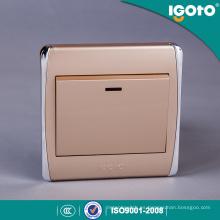 Interruptor británico estándar del marco de oro 20A con el neón