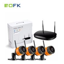 H.264 4-канальный CCTV IP Wi-Fi Беспроводная система камер NVR Комплект Полный комплект