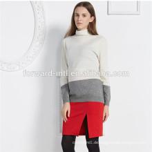 neue Mode Frauen Kaschmirwolle Strickwaren Kleid, Dame Kaschmirpullover