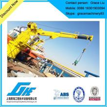 Grue de pont hydraulique télescopique pour marine