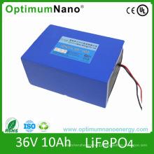 Over 2000 Times Lifecycle 36V 10ah LiFePO4 Battery for E-Bike