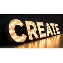 Nuevo Custom LED Channel Letter Signboard Bulb Letter Sign