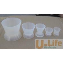 Dental silicona mezclando taza de cuenco (no se pegan taza de mezcla)