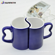 11oz bleu magique changement de couleur sublimation vide tasse de couple