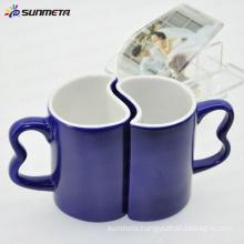 11oz blue magic color change sublimation blank couple mug