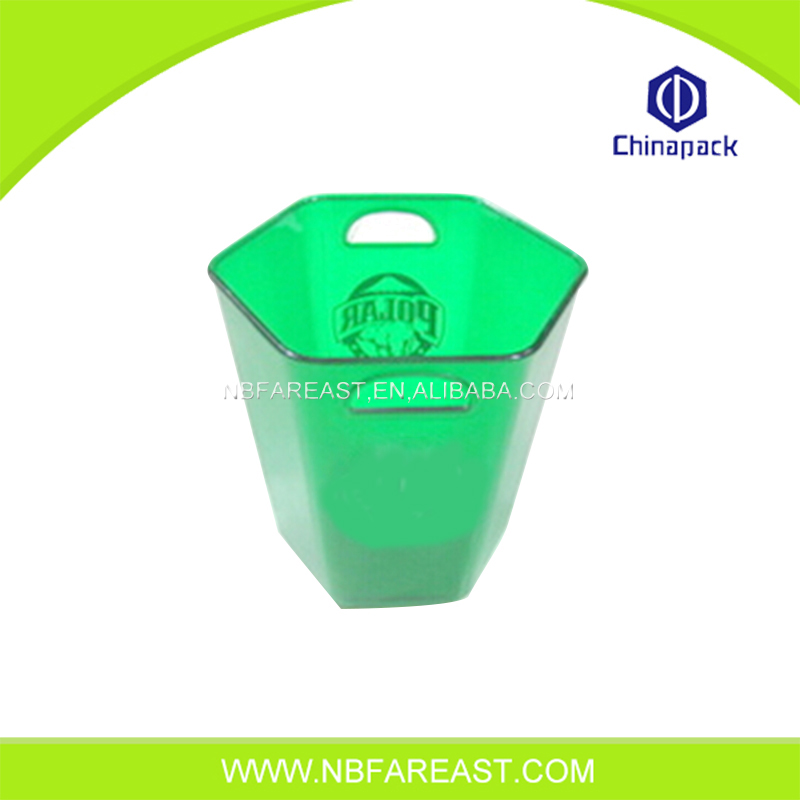 Eco-friendly wholesale acrylic beer ice bucket