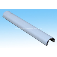 Barra de luz LED alumínio perfil metade redonda
