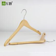 Kleiderbügel aus hochwertigem Naturholz-Hemd im Uniqlo-Stil