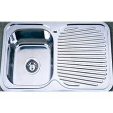 Fregadero de cocina de acero inoxidable tabla de drenaje (kis7848)