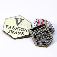 Metal Labels Badges Factory Wholesale Custom Logo Stamping Decorative Metal Plate for Handbags
