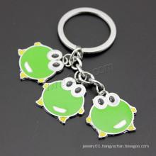 2016 new design green frog Enamel Zinc Alloy Key Chain