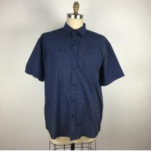 Camisa de trabalho masculina de manga curta com bolinhas