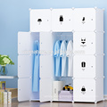 Useful Mulit Color Canvas Clothes Storage Cabinet Wardrobe