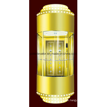 SGS Approved Sightseeing Elevator with Golden Cover