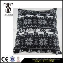 Reno blanco y negro y patrón de copo de nieve almohada almohadilla para la Navidad Calidad de la elección