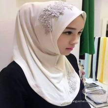 Hot sell hijab caps Muslim Islamic Arabric chiffon hijab plain ladies scarf new style