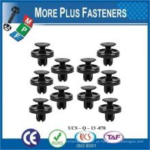Feito em Taiwan Grey Plastic Car Trim Clip Plastic Retainer Trim Fastener Push Type Fender Shield Clip