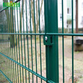Murah Custom Metal Welded Double Horizontal Fence Panel