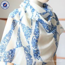 Wholesale Custom Print One Piece can be Made Digital Printing 100% Natural Wool Scarf SWW806