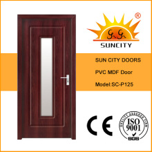Sun City Interior PVC MDF Wood Glass Door (SC-P125)
