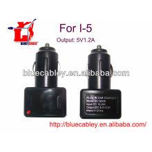 5V1.2A cargador de coche USB para iPhone 4 / 4S / 5