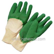 Baumwoll-Liner Latex Halbe Tauch-Sicherheits-Arbeitshandschuhe