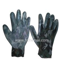 Gants de peau de camouflage Gant militaire enroulé en nitrile Gant de travail de sécurité