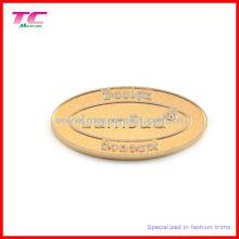 Пользовательские тиснение логотипа металла марка стикер