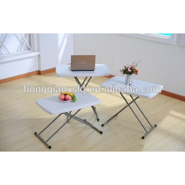 HDPE Plastic Folding Adjustable Table for Child Study, Laptop Table, Camping, General Use Outdoor Catering Small Cheap Table