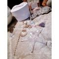 Design à la mode starfish alibaba gros keychain chaîne à cristaux liquides