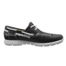 Zapatos más nuevos del cuero del barco del estilo de la seguridad