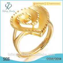 Prix de gros 18k bague de mariage en or plaqué or pour femmes
